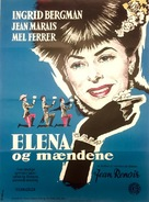 Elena et les hommes - Danish Movie Poster (xs thumbnail)