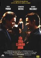 The Thing Called Love - Spanish Movie Poster (xs thumbnail)