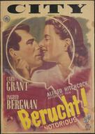 Notorious - Dutch Movie Poster (xs thumbnail)