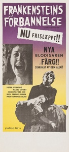 The Curse of Frankenstein - Swedish Movie Poster (xs thumbnail)