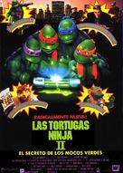 Teenage Mutant Ninja Turtles II: The Secret of the Ooze - Spanish Movie Poster (xs thumbnail)
