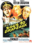 Sotto dieci bandiere - French Movie Poster (xs thumbnail)