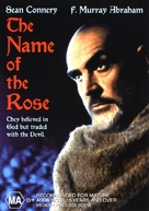 The Name of the Rose - Australian DVD movie cover (xs thumbnail)