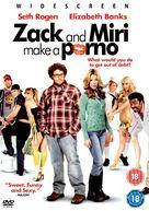 Zack and Miri Make a Porno - British DVD cover (xs thumbnail)