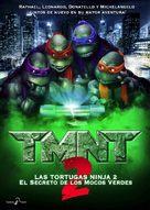 Teenage Mutant Ninja Turtles II: The Secret of the Ooze - Spanish Movie Cover (xs thumbnail)