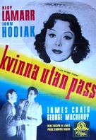 A Lady Without Passport - Swedish Movie Poster (xs thumbnail)
