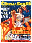 How to Marry a Millionaire - Belgian Movie Poster (xs thumbnail)
