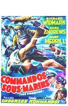The Frogmen - Belgian Movie Poster (xs thumbnail)