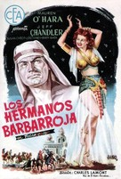 Flame of Araby - Spanish Movie Poster (xs thumbnail)