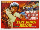 Fire Down Below - British Theatrical poster (xs thumbnail)