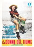 La donna del fiume - Italian Movie Poster (xs thumbnail)