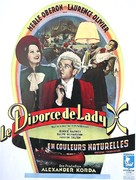 The Divorce of Lady X - French Movie Poster (xs thumbnail)