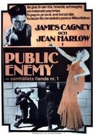 The Public Enemy - Swedish Movie Poster (xs thumbnail)