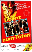 Licensed to Kill - German VHS cover (xs thumbnail)