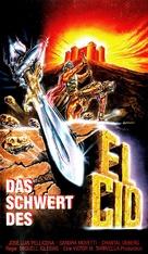 La spada del Cid - German VHS movie cover (xs thumbnail)