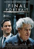 Final Portrait - German Movie Poster (xs thumbnail)
