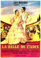 La belle de Cadix - French Movie Poster (xs thumbnail)