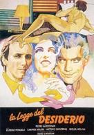 La ley del deseo - Italian Movie Poster (xs thumbnail)