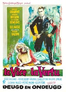 Le vice et la vertu - Belgian Movie Poster (xs thumbnail)