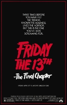 Friday the 13th: The Final Chapter - Movie Poster (xs thumbnail)