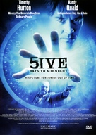 5ive Days to Midnight - Danish Movie Cover (xs thumbnail)