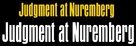 Judgment at Nuremberg - Logo (xs thumbnail)