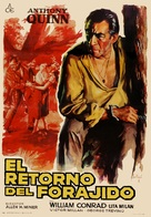 The Ride Back - Spanish Movie Poster (xs thumbnail)