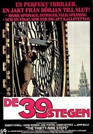 The Thirty Nine Steps - Swedish Movie Poster (xs thumbnail)