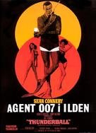 Thunderball - Danish Movie Poster (xs thumbnail)