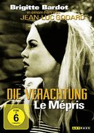 Le mépris - German DVD movie cover (xs thumbnail)