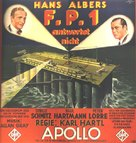 F.P.1 antwortet nicht - German Movie Poster (xs thumbnail)