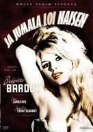 Et Dieu... créa la femme - Finnish DVD movie cover (xs thumbnail)