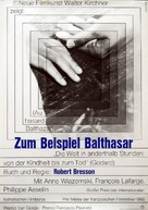 Au hasard Balthazar - German Movie Poster (xs thumbnail)