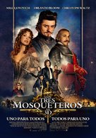 The Three Musketeers - Colombian Movie Poster (xs thumbnail)