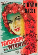 The Redhead from Wyoming - German Movie Poster (xs thumbnail)