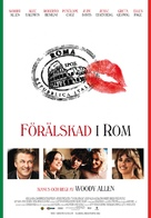 To Rome with Love - Swedish Movie Poster (xs thumbnail)