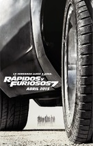 Furious 7 - Mexican Movie Poster (xs thumbnail)