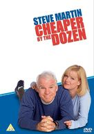 Cheaper by the Dozen - British DVD movie cover (xs thumbnail)
