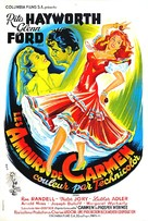 The Loves of Carmen - French Movie Poster (xs thumbnail)
