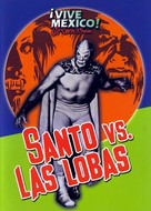 Santo vs. las lobas - Mexican Movie Cover (xs thumbnail)