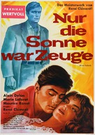 Plein soleil - German Movie Poster (xs thumbnail)