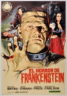 The Horror of Frankenstein - Spanish Movie Poster (xs thumbnail)