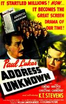 Address Unknown - Movie Poster (xs thumbnail)