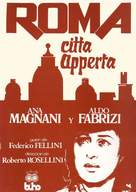 Roma, città aperta - Spanish Movie Poster (xs thumbnail)