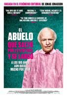 Hundraåringen som klev ut genom fönstret och försvann - Spanish Movie Poster (xs thumbnail)