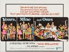 Yours, Mine and Ours - British Movie Poster (xs thumbnail)