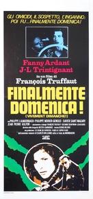 Vivement dimanche! - Italian Movie Poster (xs thumbnail)