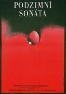 Höstsonaten - Czech Movie Poster (xs thumbnail)