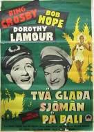 Road to Bali - Swedish Movie Poster (xs thumbnail)