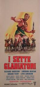 Siete espartanos, Los - Italian Movie Poster (xs thumbnail)